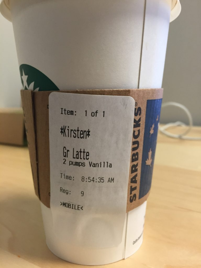 Victory for everyone who's had their name butchered at Starbucks!