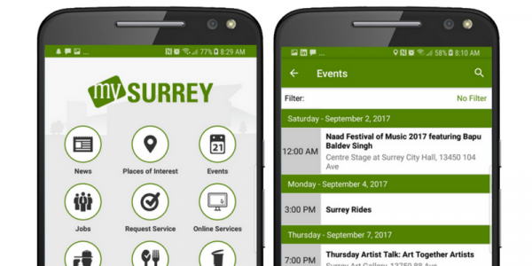 City of Surrey Mobile App