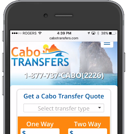 Cabo Transfers Mobile Web