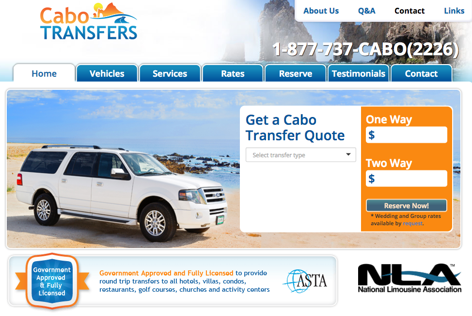 Cabo Transfers Web View
