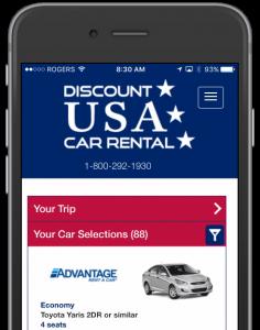 Discount USA Car Rental Closeup