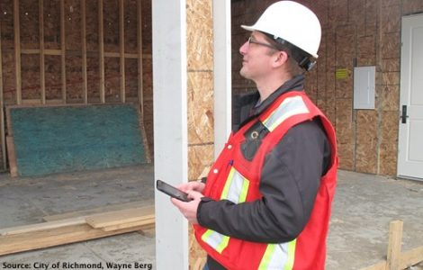 City of Richmond Building Inspector Using Metro Grove App