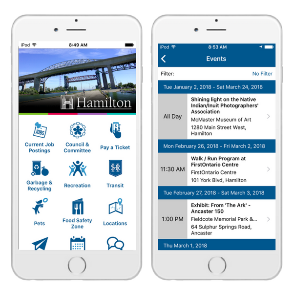 city of hamilton mobile app