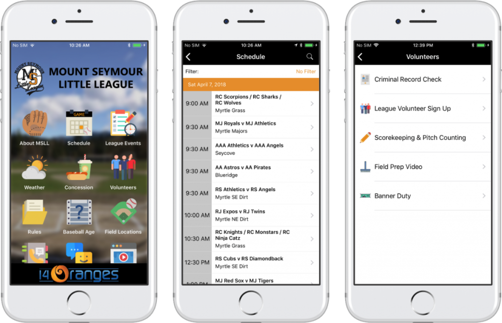 sports team mobile app
