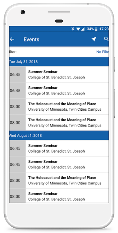 mobile app events