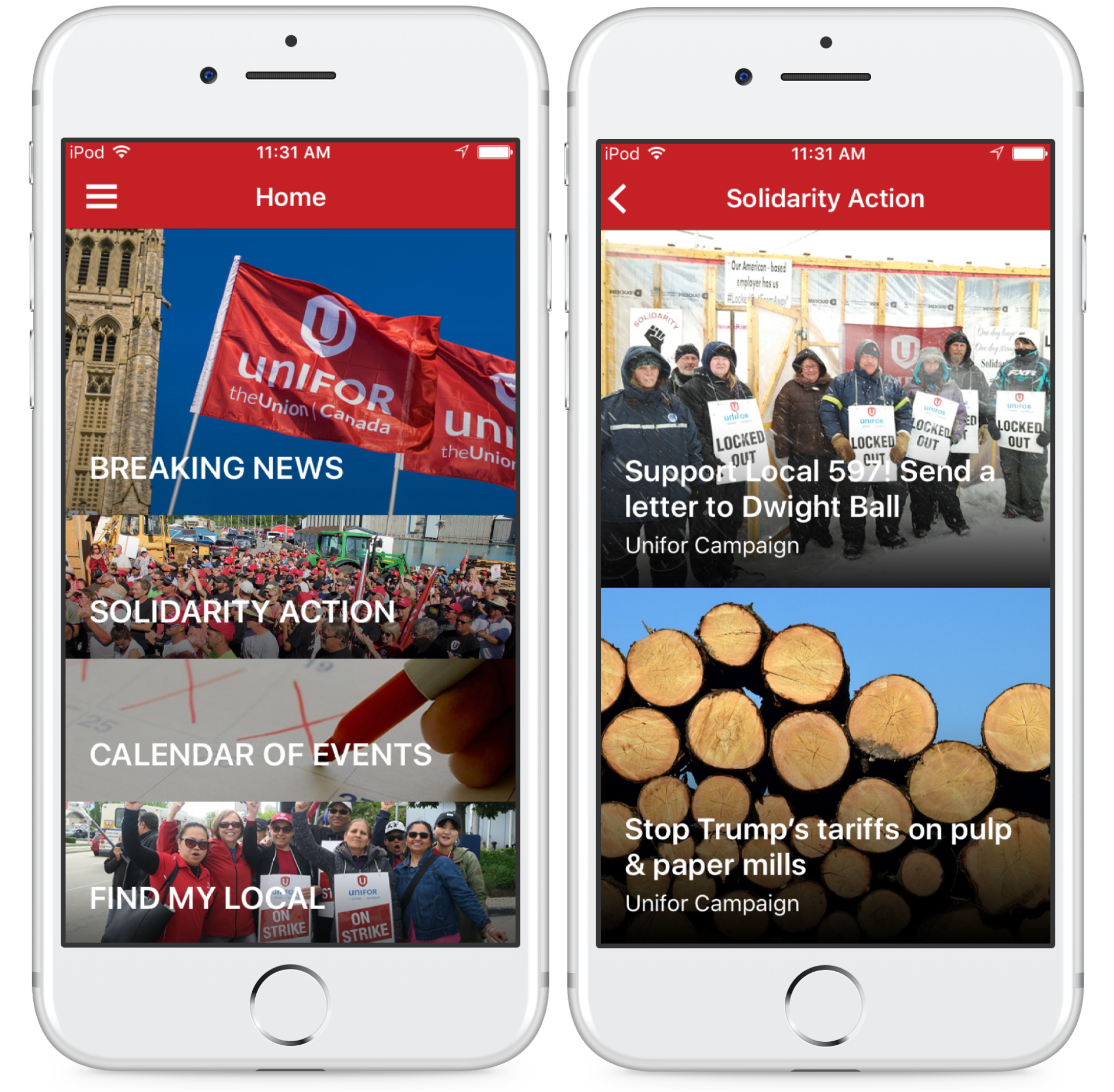 Unifor Mobile App