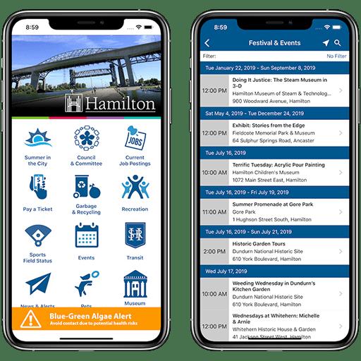 14 Oranges - City of Hamilton Mobile App Screenshots